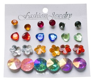 Multi-Colored Shapes Studs