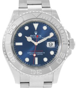Rolex Rolex Yachtmaster Steel Platinum Blue Dial Watch 116622