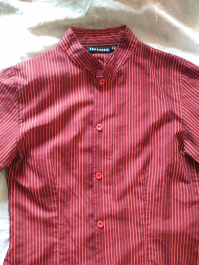 VINTAGE RED AND BROWN STANDUP COLLAR SHIRT ASIAN SIZE S Button Down Shirt #16513204 - Button-Downs new