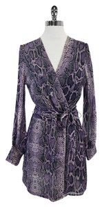 Halston short dress Purple Snakeskin Silk Print on Tradesy