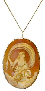 AMEDEO M&M Scognamiglio Italian 14K Shell Lady with Garlands Cameo