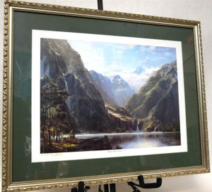Ivan Clarke Hanging Valley Fiordland N.z - Scenic Print Signed Numbered & Framed