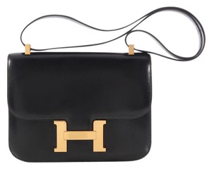 Hermès Gold Hardware Hr.k0509.03 Box Leather Vintage Shoulder Bag