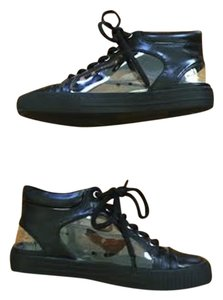 BCBG Paris Bcbg Bcbg Sneaker Bcbg Footwear Sneaker Leather Black and Clear Athletic