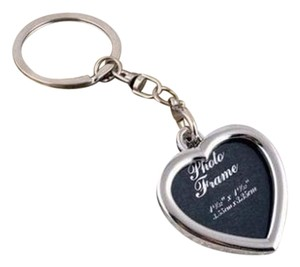 Other Silver Heart Shaped Photo Frame Key Ring Key Chain Free Shipping