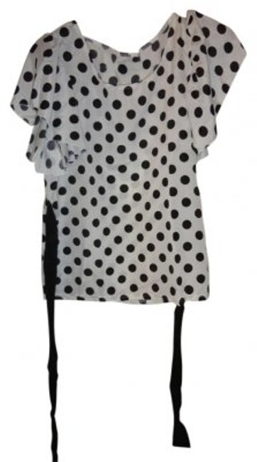 Preload https://item3.tradesy.com/images/black-and-white-polka-dot-tie-back-blouse-size-4-s-165137-0-0.jpg?width=400&height=650