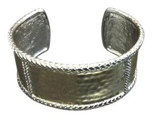 Other Two tone Vermeil and Sterling Silver Cuff Hammered Bracelet