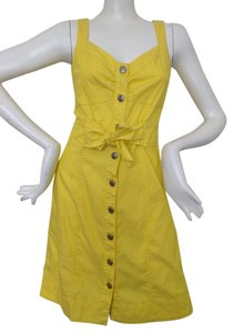 Banana Republic short dress Yellow on Tradesy