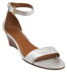 Tory Burch Sandal Wedges Silver Sandals