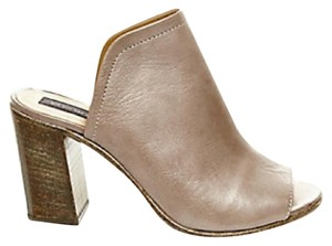 Steven by Steve Madden Grey leather Mules