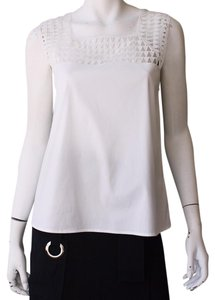 A.L.C. Cutouts Embroidered Top White