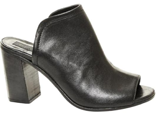 Steven by Steve Madden Black Leather Mules Image 0
