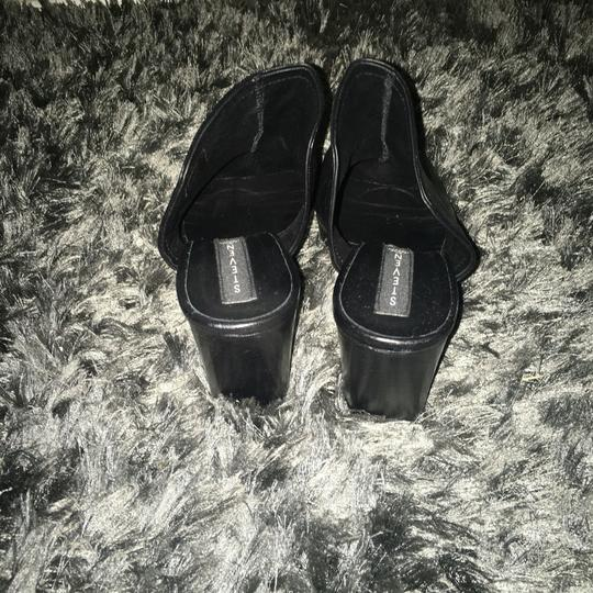 Steven by Steve Madden Black Leather Mules Image 3