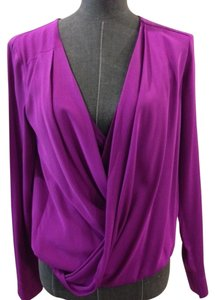 Diane von Furstenberg Dvf Silk Size 2 Top Purple