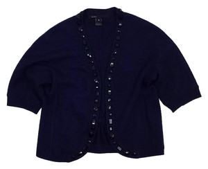 Marc Jacobs Blue Black Jeweled Cardigan