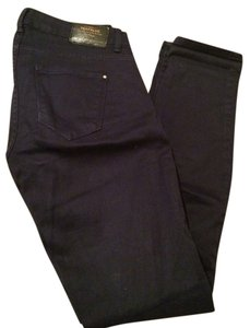 Zara Colored Denim Denim Pockets Skinny Jeans-Dark Rinse
