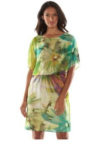 Ronni Nicole short dress multi Tropical Floral Chiffon Lined on Tradesy