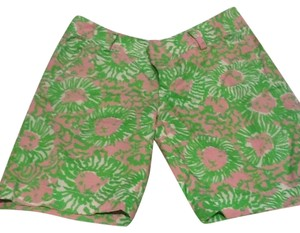 Lilly Pulitzer Bermuda Shorts Green pink