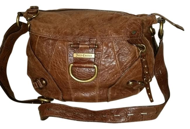 Item - Brown Distressed Leather Cross Body Bag