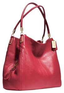 Coach Satchel in Scarlet Red