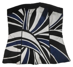 White House | Black Market Bustier Strapless Whbm Top Blue, Black, White