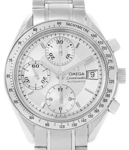 Omega Omega Speedmaster Automatic Date Silver Dial Watch 3513.30.00 Card
