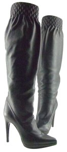 Casadei Black Leather Over The Knee Boots