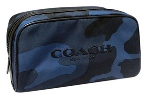 Coach COACH F F93446 Unisex Weekend Top Zip Travel Bag Blue/Black NWT