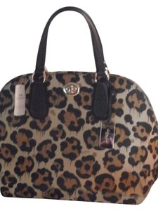 Coach Satchel in ANIMAL PRINT