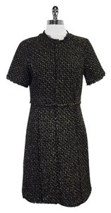 Michael Kors short dress Black Gold Wool Short Sleeve on Tradesy