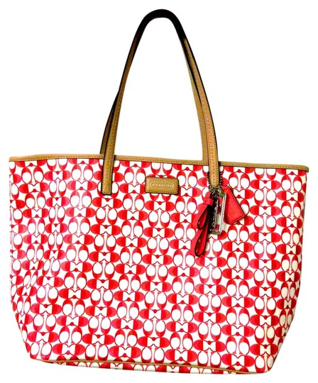 Preload https://item3.tradesy.com/images/coach-signature-metro-red-white-coated-canvas-and-leather-tote-1651637-0-0.jpg?width=440&height=440