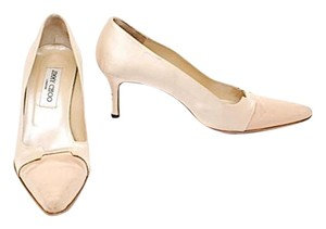 Jimmy Choo Satin Beige Pumps