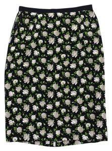 Dolce&Gabbana Rose Print Silk Skirt