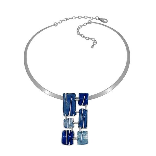 Other Abstract Enamel Pendant Pewter Necklace Image 1
