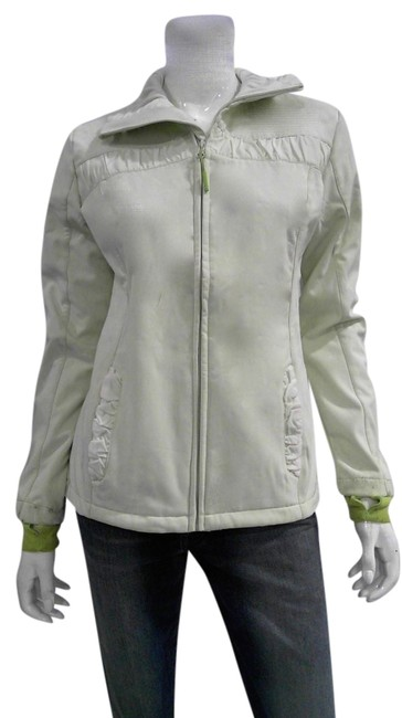 Item - Very Pale Green and Bright Green Accents Casual Lightweight Jacket Size 8 (M)