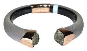 Alexis Bittar Alexis Bittar Rose Opal Lucite ROSE GOLD Hinged Bangle Bracelet New