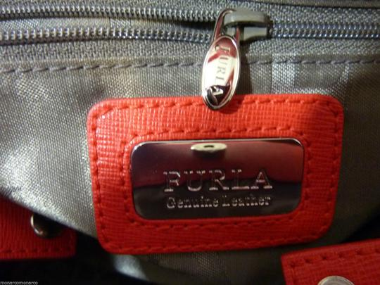 Furla Tote in Red/Silver