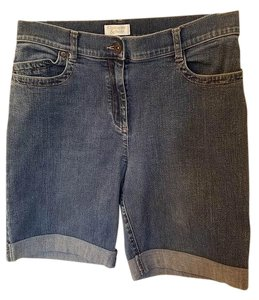 Christopher & Banks Cuffed Shorts Blue