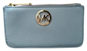Michael Kors NWT Fulton Small Leather Key Pouch Coin Purse Card Holder Wallet