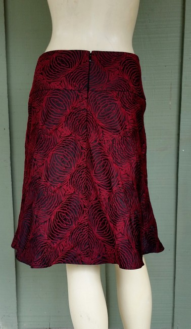 Ann Taylor Brocade Skirt Red