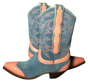 Old Gringo Wenstern Cowgirl Size 6 Pink Blue Boots