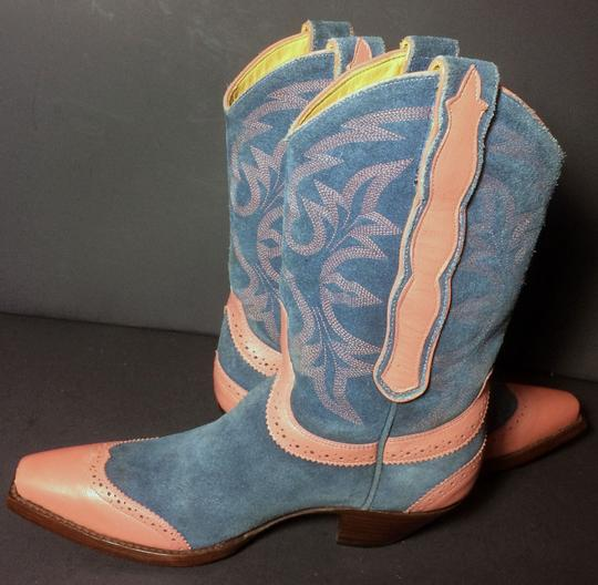 Old Gringo Wenstern Cowgirl Size 6 Pink Blue Boots Image 2