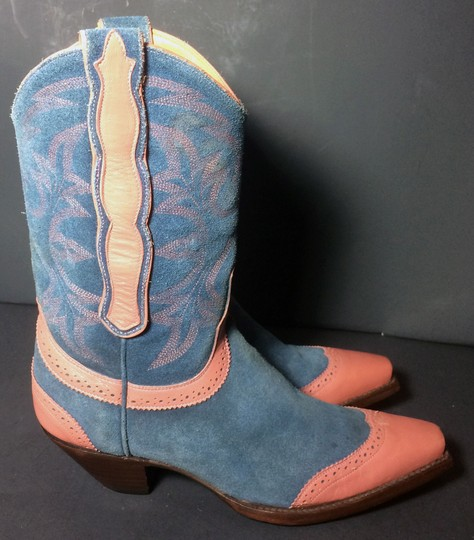 Old Gringo Wenstern Cowgirl Size 6 Pink Blue Boots Image 4