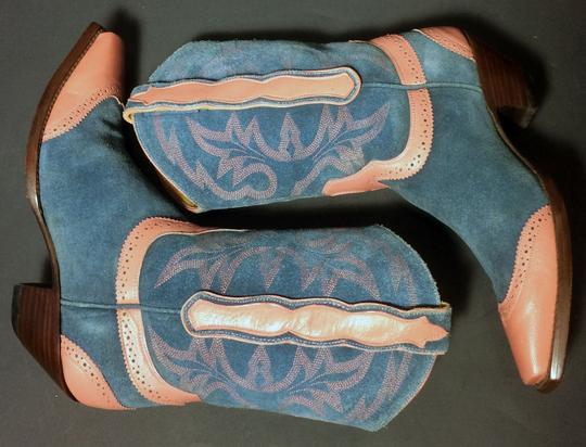 Old Gringo Wenstern Cowgirl Size 6 Pink Blue Boots Image 5