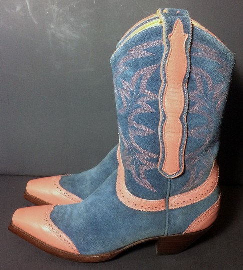 Old Gringo Wenstern Cowgirl Size 6 Pink Blue Boots Image 6