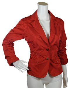 Lida Baday Smart Workwear Silk Red Blazer