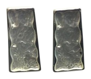 Other Silver Electro Coated Post Earrings Trapezoid