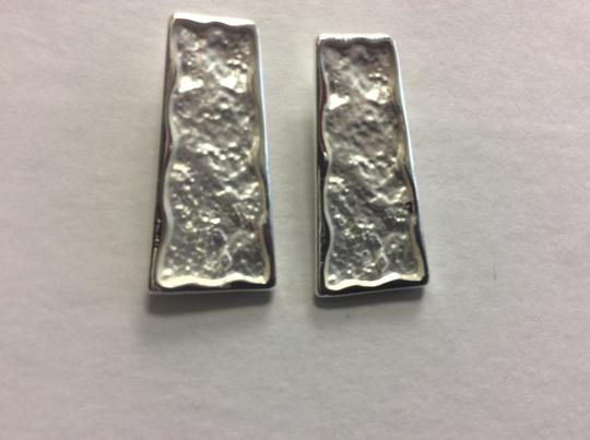 Other Silver Electro Coated Post Earrings Trapezoid Image 1