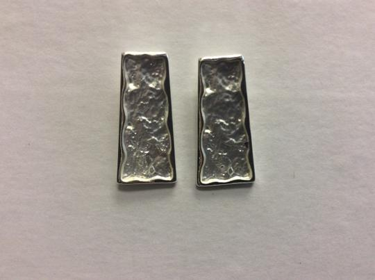 Other Silver Electro Coated Post Earrings Trapezoid Image 2