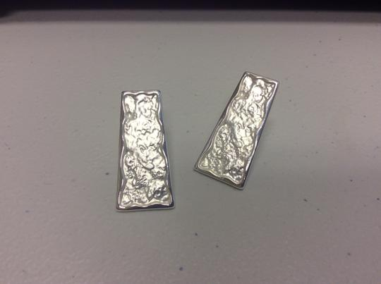 Other Silver Electro Coated Post Earrings Trapezoid Image 3